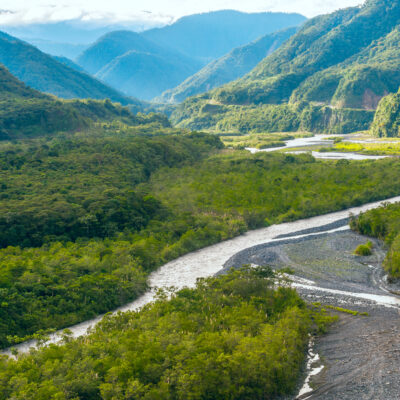 From Andes to Amazon, View of the tropical rainforest, Pastaza province in the Oriente of Ecuador