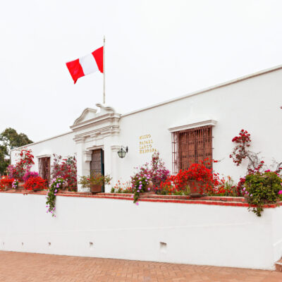 LIMA, PERU - MAY 28, 2015: The Larco Museum is a museum of pre-Columbian art, located in Lima, Peru