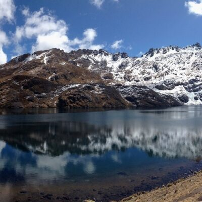 One of the stunning lakes you come across when hiking from Lares to the sacred valley in the Peruvian Andes