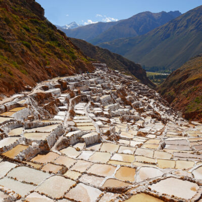 The famous salt terraces of Maras close to Cusco, Peru.