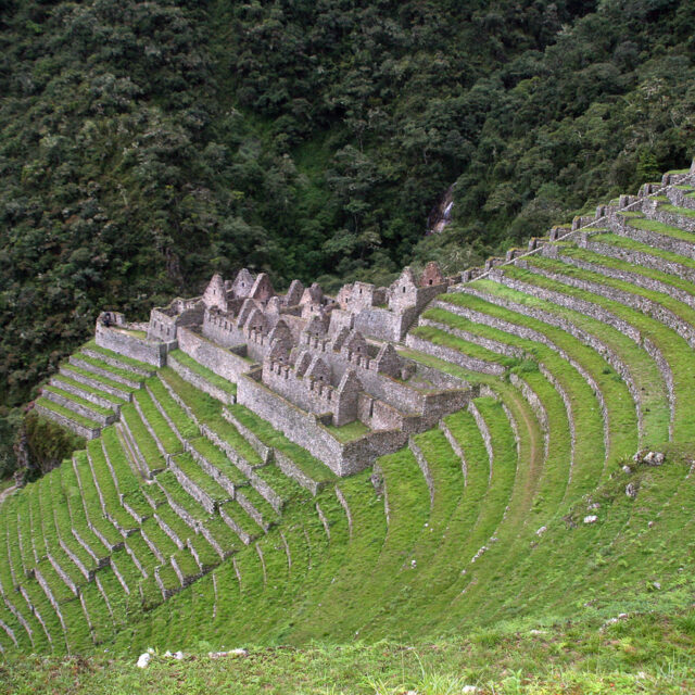 Ancient ruins of Winay Wayna near Machu Picchu